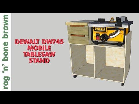 Mobile Tablesaw Stand for DeWalt DW745 (part 2 of 2) - Workshop Re-Model Episode 3