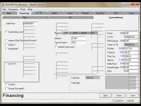 REALPRO for Windows is TRID Compliant