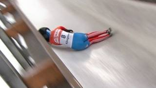 A hard crash as Rudman wins in Skeleton - from Universal Sports