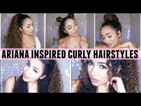 Ariana Grande Inspired Curly Hairstyles! 🌙