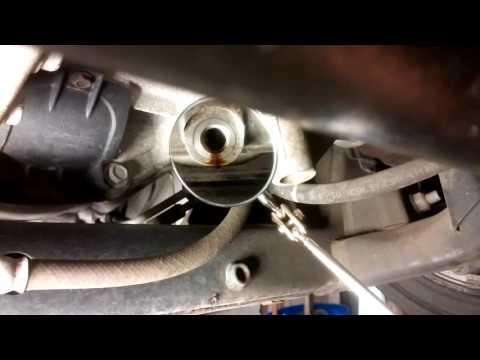 Oil Pan stripped thread repair on Chrysler 300 3.5L  V6
