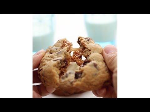 Caramel-Stuffed Chocolate Chip Cookies