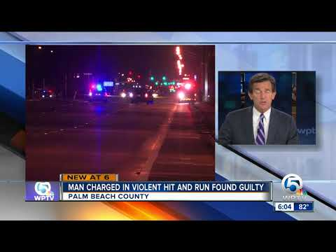 Deadly hit and run driver guilty in Riviera Beach crash