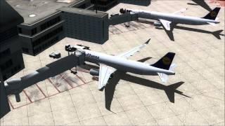 Landing in Frankfurt-Main MD-11 (FSX)