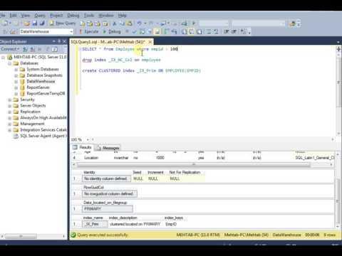 Index Seek and Index Scan in SQL Server