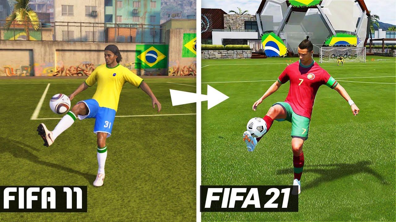 FIFA 11 - FIFA 21 PRACTICE ARENA EVOLUTION!