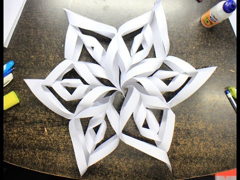 How to make easy and quick 3D snowflake in 7 minutes???!!!!! Perfect Christmas Decoration!