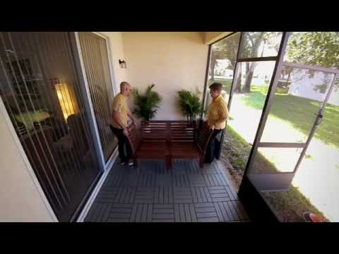 DIY Patio Project: Laying Outdoor Deck Tiles – IKEA Home Tour
