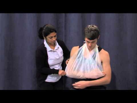 Triangular Sling for showering after shoulder surgery or injury