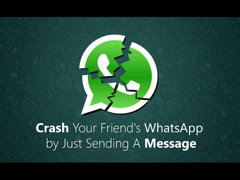 How to crack someone's whatsapp by sending special messages.