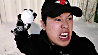 IMPOSSIBLE SNOWBALL TRICK SHOTS!!!