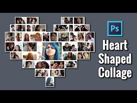 Photoshop Collage Heart Shaped Template Photography Tutorial