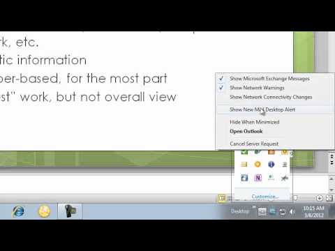 Working with the Desktop Notifications in Outlook 2010