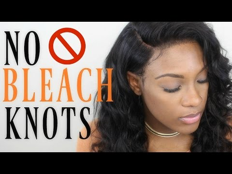 NO BLEACHED KNOTS | Slay your lace frontal without using bleach! Omgqueen