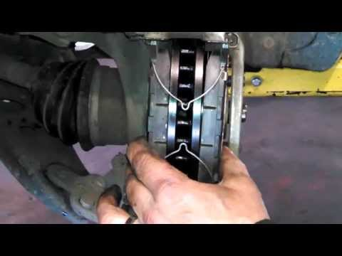 Front brake pad replacement Toyota Camry 2005-2006 install remove replace how to