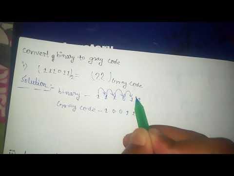 Convert binary to gray code converter in hindi