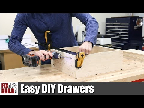 Easy DIY Drawers with Pocket Screws | How to Make