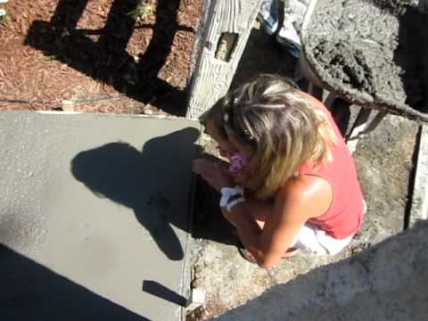 Handprints in concrete Kids put hand prints in concrete path