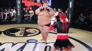 529lbs Man VS 139lbs Woman - Fight In Russia