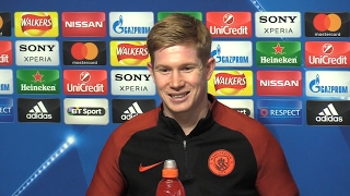 Kevin De Bruyne Full Pre-Match Press Conference - Manchester City v Monaco - Champions League