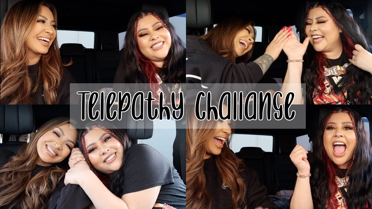 TikTok TELEPATHY challenge FT. IVETTE (ARE WE IN SYNC??!) *HILARIOUS*