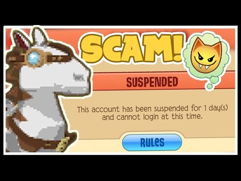How Scammers are Getting Random People Suspended | Animal Jam