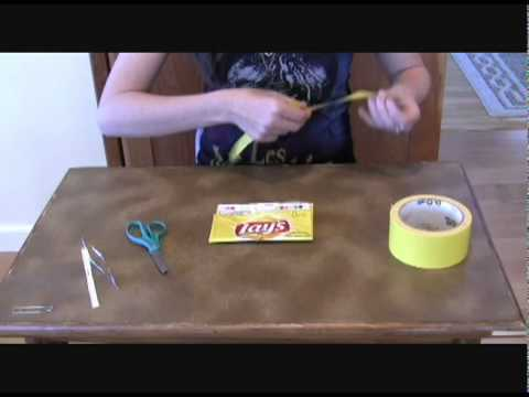 How to Make a Chip Bag Coin Purse -  A