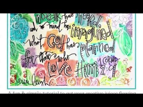 Start Faith Art Journaling Today.  Simple supplies  Simple Tutorial