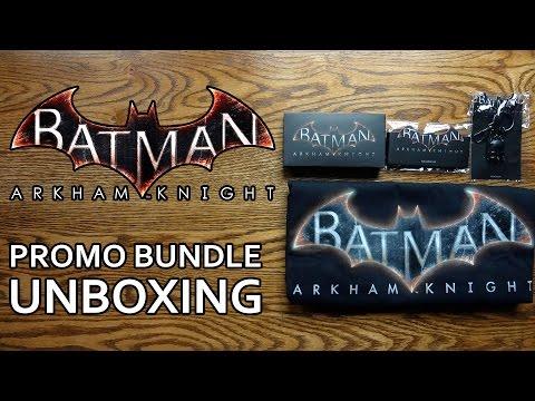 Batman Arkham Knight Press Promo Pack / Bundle Unboxing & Review - HD 1080p