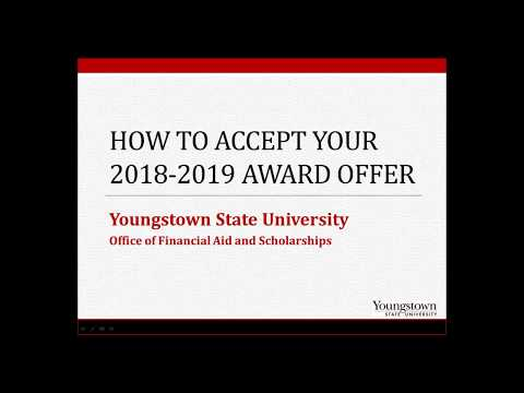 How To Accept your YSU Financial Aid Award Offer