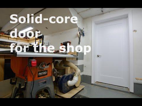 Shop built - DIY Solid core door