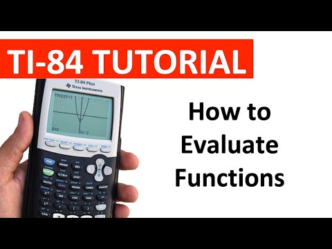 Evaluating Functions on a TI-84 Graphing Calculator