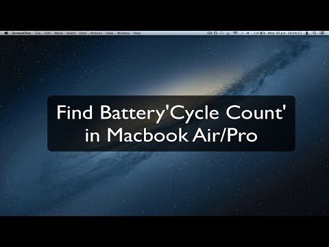 [How To] Find Battery Cycle Count in Macbook Air/Pro