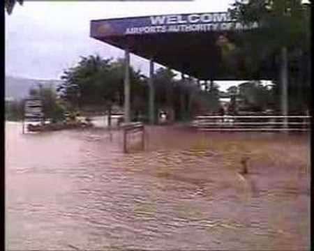 airport in flood