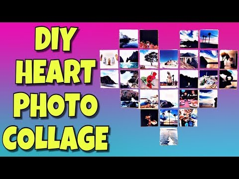 DIY EASY TUMBLR HEART PHOTO COLLAGE!