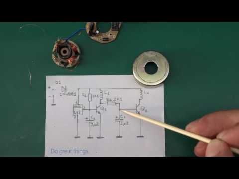 PC fan BLDC driver circuit reverse engineered