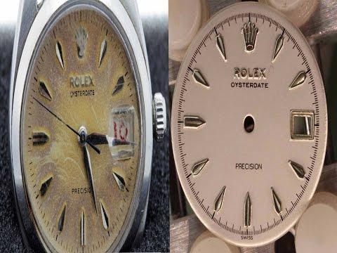 Rolex Oysterdate Restoration & dial re-finish