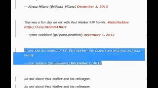 Paul Walker Dead    Hollywood Mourns 'Fast & Furious' Star on Twitter Reporting BBC  CNN