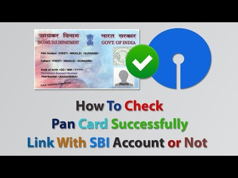 How To Check Pan Card Successfully Link With SBI Account or Not 2017