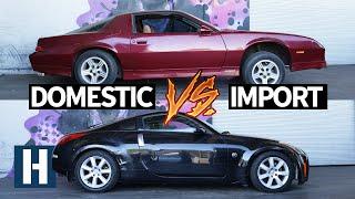 Build & Battle 3: Gymkhana GRID! Chevy Camaro vs Nissan 350z Faceoff EP.1
