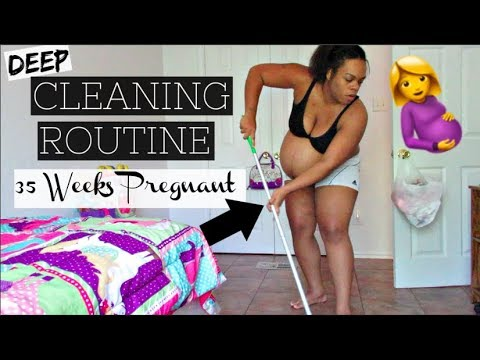 Deep House Cleaning Routine At 35 Weeks Pregnant With Twins Send Me Into Labor