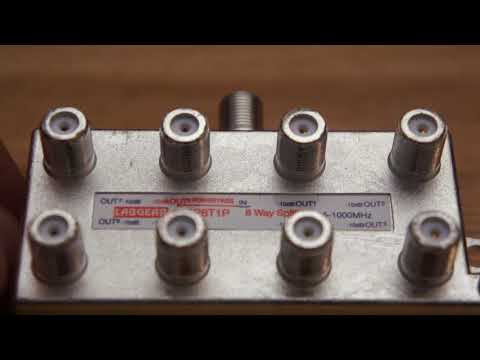 8 Way Splitter and how power pass with masthead amp works