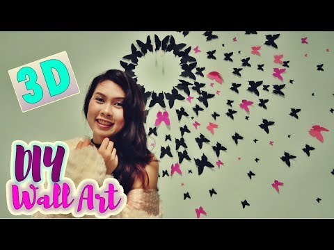 3D BUTTERFLY WALL ART | EASY DIY | genwintalks