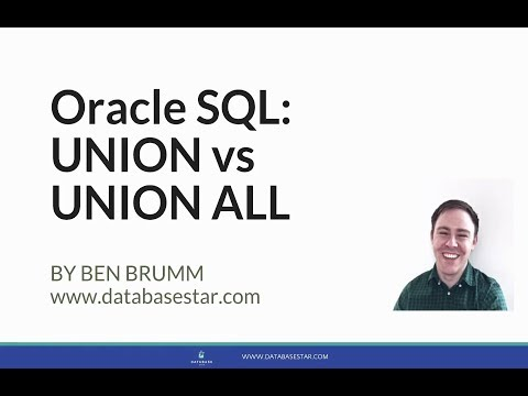 Oracle SQL: UNION vs UNION ALL
