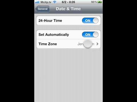 how to disable iphone Date & Time set Automatically ios 5