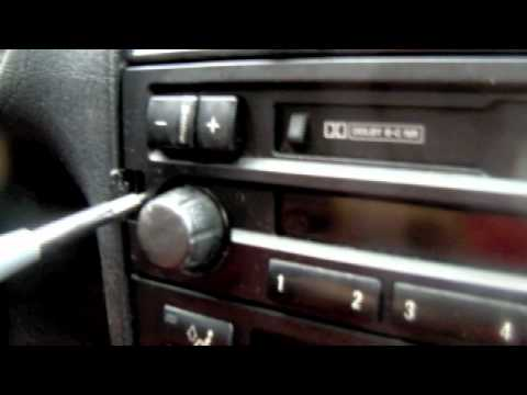 Tutorial: BMW E36 Radio removal and replacement. So easy a kid can do it.