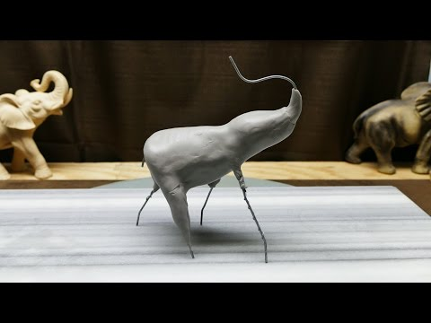 Sculpting an Elephant, part 3: Starting the clay