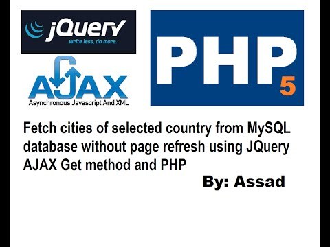 Fetch Cities of Selected Country using jQuery AJAX, PHP5 & MySQL (English)