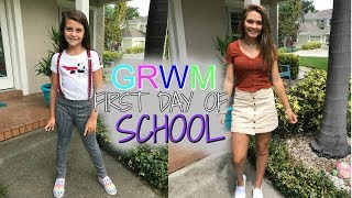 GRWM FIRST DAY OF SCHOOL! BACK TO SCHOOL MORNING ROUTINE!