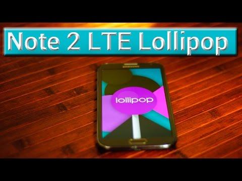 Samsung Galaxy Note 2 LTE Lollipop 5.0